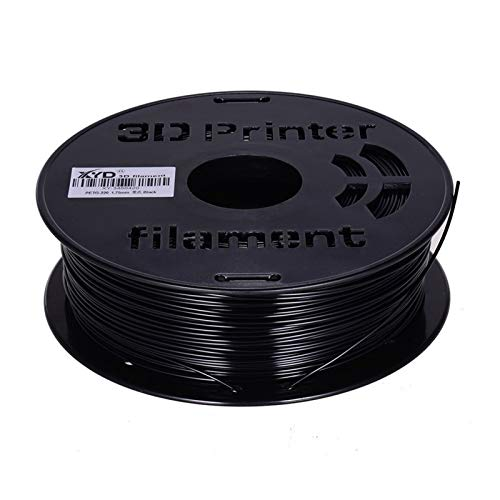 1KG Spool PETG Filament 1.75mm Durchmesser-Druckmaterial Refills for 3D-Drucker Drawing Pens für 3D-Druck (Color : Black)