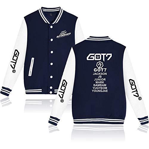 GOT7 Kpop Jacket Honkbal Sweatshirt GOT7 Pullover Derde Wereld Tour Keep Spinning Fans Casual Jassen Lange Mouw Sweat Fashion Tops voor Mannen Vrouwen