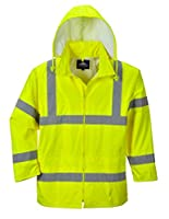 Portwest Waterproof Rain Jacket, Lightweight, Yellow, 4X-Large