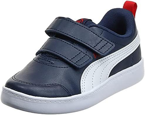 PUMA Courtflex v2 V PS, Boys' Sneakers, Blue (Peacoat/High Risk ...
