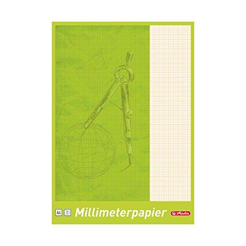 Herlitz 690404, Papil milimetrado A4, 25fogli