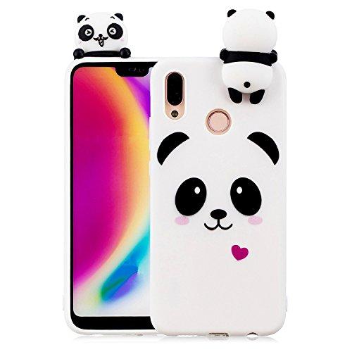 ZCRO Cover per Huawei P20 Lite (Non per P20), Custodia Cover Silicone Morbido Gomma Case Silicone TPU con Disegni Antiurto Sottile Resistente Case Protettiva Custodia per Huawei P20 Lite (Panda)