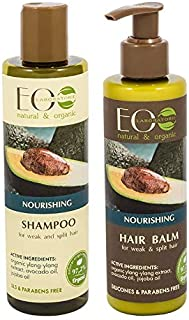 EO Laboratorie natural & organic Set For Weak & Split Hair Nourishing Shampoo, 250 ml + Conditioner, 200 ml, 250ml+200ml