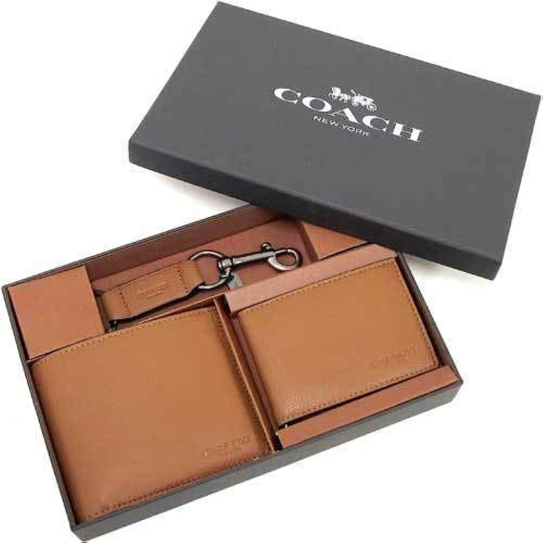 徒歩で足周辺(コーチ) COACH アウトレット 二つ折り財布財布&アンド トリガー スナップ キーホルダー セット (BOX付) F64118 CWH n60928 [並行輸入品]