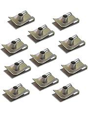 20 unids M5/M6 Chimenea U Tuerca Spire Clips de Velocidad de Parachoques Metal U Clips Zincificación Fijaciones Panel Para Vehículos Automóviles Electrodomésticos