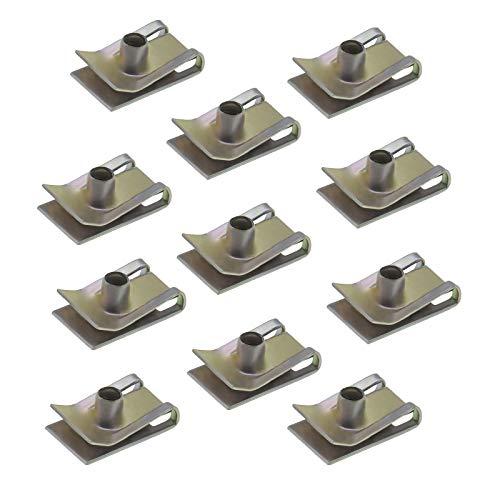 20 Stück M5 Schornstein-U-Muttern, Spire Clips, Schnellverschlüsse, Metall-Stoßstange, U-Clips, Verzinkungsbefestigungen, Panel für Kraftfahrzeuge, Haushaltsgeräte