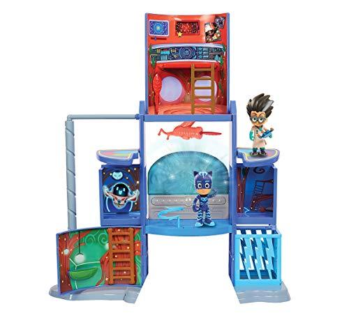 Simba 109402375 - PJ Masks Hauptquartier / Mission Control Spielset / mit Catboy und Romeo Figur / Pyjamaheld und Bösewicht / mit Licht und Sound / aufklappbar / 57cm hoch, für Kinder ab 3 Jahren