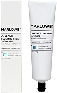 MARLOWE. No. 311 Charcoal Toothpaste 4.2 oz   Fluoride-Free   Made with Natural Ingredients   Freshens Breath, Antioxidant Protection