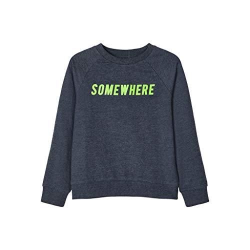 NAME IT NOS Boys NKMVION LS SWE UNB B NOOS Sweatshirt, Dark Sapphire, 134-140