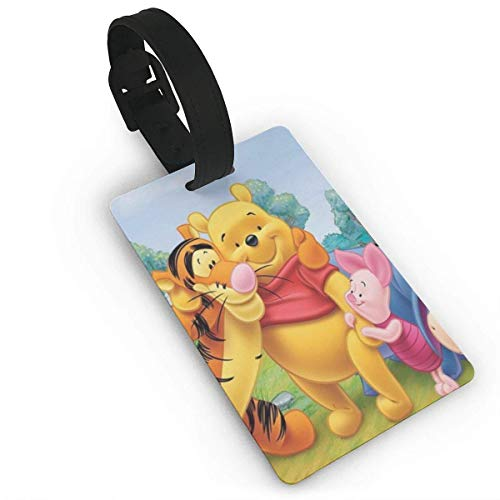 Winnie The Pooh Photos Luggage Tag Adjustable Strap Bag Baggage Name,Accessories Tags for Tourists