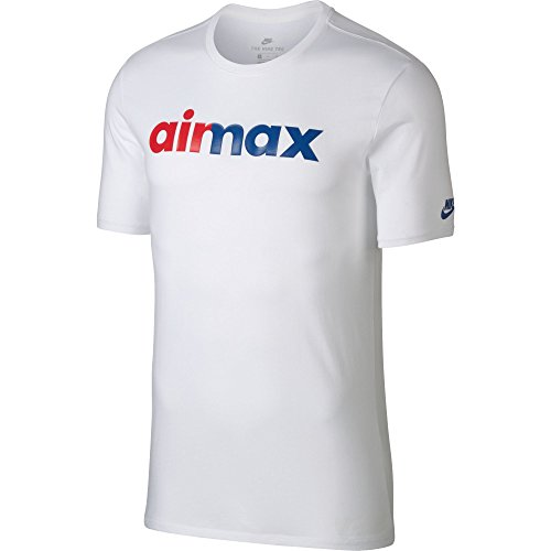 Nike - M NSW Hybrid 1 - T-shirt - Homme - Blanc (Royal Éclatant) - FR : L (Taille Fabricant : L)