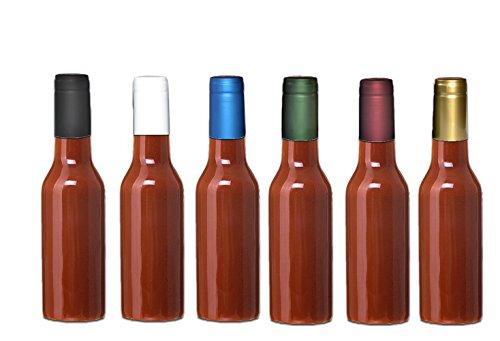 Premium Vials, GOLD Shrink Capsules for Glass Woozy Hot Sauce Bottles - Pack of 30