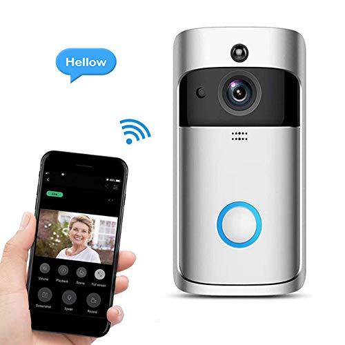 Wifi-deurbel-camera, videodeurbel, 720P HD, 2,4 G WiFi Smart draadloze deurbel, IP65-waterdicht, veiligheid thuis, tweewegs-gesprek en video, PIR-bewegingsdetectie, nachtzicht
