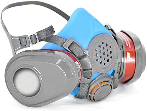 T-61 Half Face Respirator – ASTM Tested – Double Activated Charcoal Air filter – Industrial Grade Quality