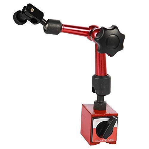 Kaxofang Indicador de Palanca Universal Impermeable Dial Indicador de Dial de Alta PrecisióN de 0,01 Mm con Base MetáLica MagnéTica Flexible A