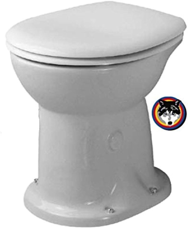 Duravit Stand WC Duraplus 47cm Trockenklosett + HARO WC Sitz + WC Befestigung
