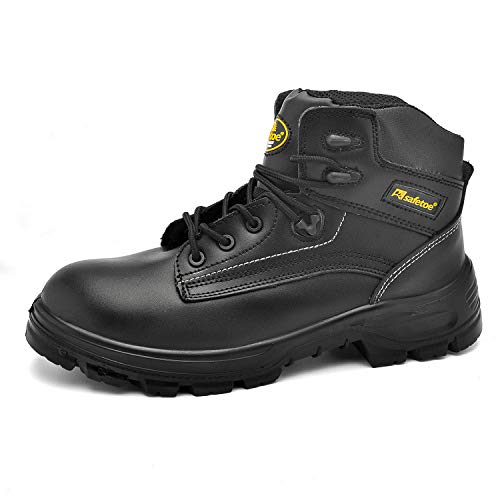 SAFETOE Mens Safety Boots Steel Toe Leather Waterproof...