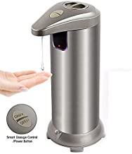【HOPORISE】 Sensor Soap Dispensers,Waterproof Automatic Soap Dispenser Touchless with On/Off Switch and Adjustable Soap Dispenser Output Switch
