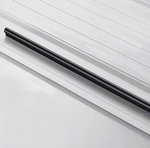 Tiradores Negras para Gabinetes Modernos Manija para Cajones Tirador para Muebles,Aleación de Aluminio Sólido Alargado Manija para Puerta de Armario - Tipo Recto(Hole center 1170mm)