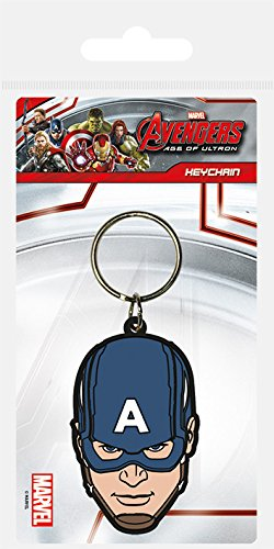 Pyramid International Avengers : Age of Ultron Porte-clés Captain America en caoutchouc, multicolore, 4,5 x 6 cm