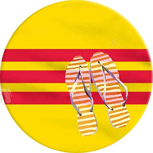 PEIGJH Runde Teppiche, Südvietnamesische Flagge nach Vietnam Teppich 60cm Waschmaschinenfest, für Wohnzimmer, Lvining Schlafzimmer