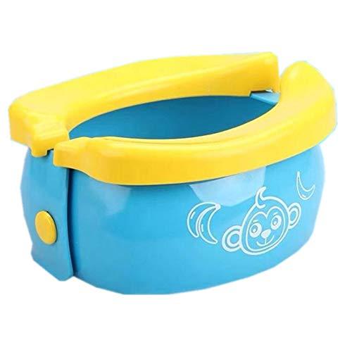 xinaishan 折り畳み式 簡易 ポータブルトイレ 座れる携帯トイレ 防災グッズ 緊急用 幼児 子供用 コンパクトトロン 5個セット (ブルー)