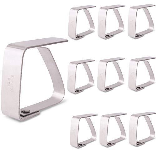 Kerafactum - Tischdeckenklammern in Silber, Größe 10 Stück