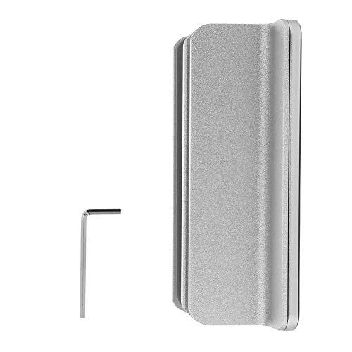 Diyeeni 2 in 1 ergonomische verticale standaard voor laptop/notitieboek/tablet, met dubbele groevenhouder van aluminium voor smartphones, boeken, met anti-slip rubber, instelbaar 4,6-10 cm