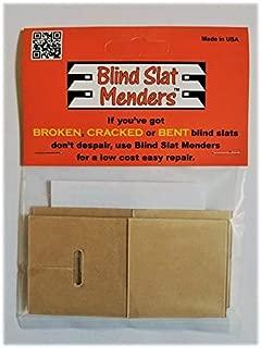 Blind Slat Menders for The Repair of Broken, Cracked or Bent Horizontal Window Blind slats
