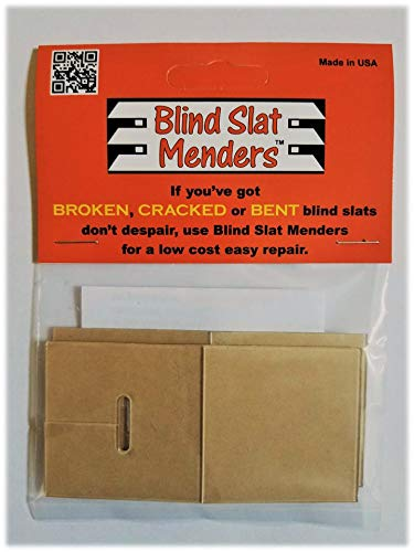 Blind Slat Menders for The Repair of Broken, Cracked or Bent Horizontal Window Blind slats