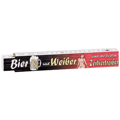 Zollstock Meterstab 2m Bier und Weiber