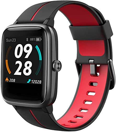 Smartwatch GPS Damen, Fitness Armband 5ATM Wasserdicht 14 Sportmodi Activity Tracker mit Schwimmmodus für Herren Kinder, Voller Touchscreen Aktivitätstracker mit Schrittzähler, Schlafmonitor, Stoppuhr
