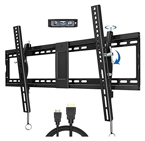 TabloKanvas Inclinación TELEVISOR Soporte de Montaje en Pared para 40-90 Pulgadas LED Vs TELEVISOR Monte con Perfil bajo y Espacio de Espacio. (Color : Black)