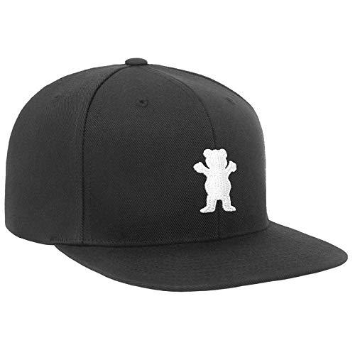 Grizzly Griptape Men's OG Bear Snapback Hat Black/White
