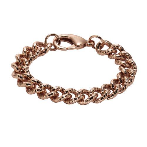 ZEEme Donna-Braccialetto Metallo Chiusura a moschettone in Oro Rosso 208060010-2