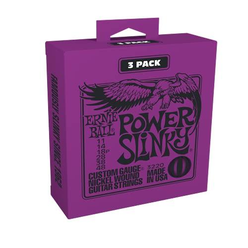 Ernie Ball Power Slinky Nickel Wunde E-Gitarre Saiten 3 Pack - 11-48 Gauge