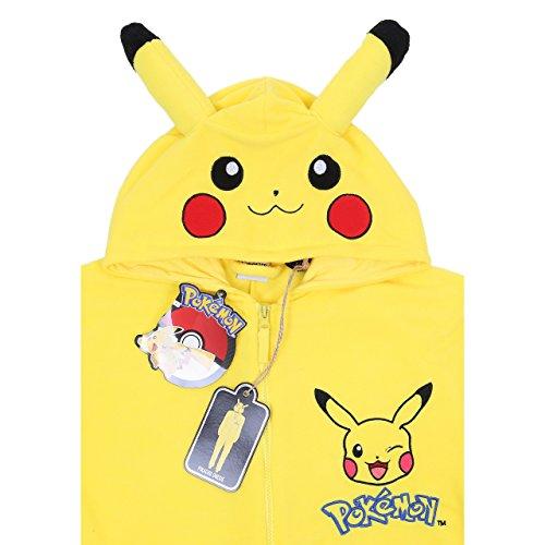 Pokemon Pikachu Ganzkörper Schlafanzug, Schlafoverall, Onesie, Einteiler - 2