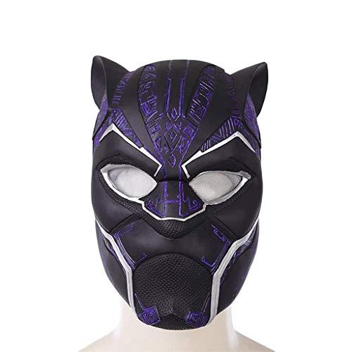 DYB Mscara de Casco de Pantera Negra de la Serie Marvel Legends, Carnaval y Halloween, Disfraz para Adultos, ltex, Adornos de Navidad Azul prpura Unisex