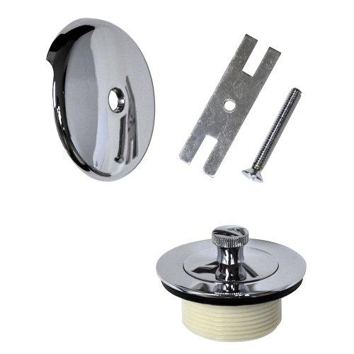 DANCO Universal Lift and Turn Bath Drain Trim Kit with Overflow Plate, Chrome (88966)