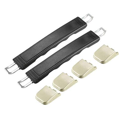 YeVhear Koffergriff, Ersatz für Gurtgriffe, lang, 182 mm, für Koffer, Schwarz, 2 Stück