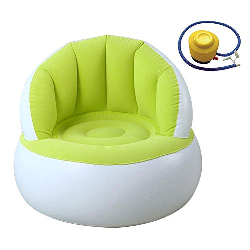 Tumbona Inflable Sofá de Aire Hamaca portátil, Sofá Inflable para niños con Respaldo Lindo Flocado Colorido Juego de Silla de sofá Plegable Inflable