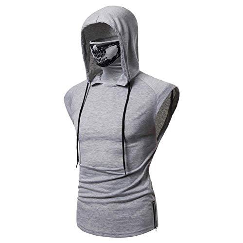 Elastic Fitness - Disfraz de Ninja de dos piezas con capucha para hombre