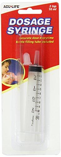 Dosage Syringe - Orale Benutzung mit Erweiterungsröhre und Sicherheitsventil - 10ml mit halbe Teelöffel Maßeinheiten