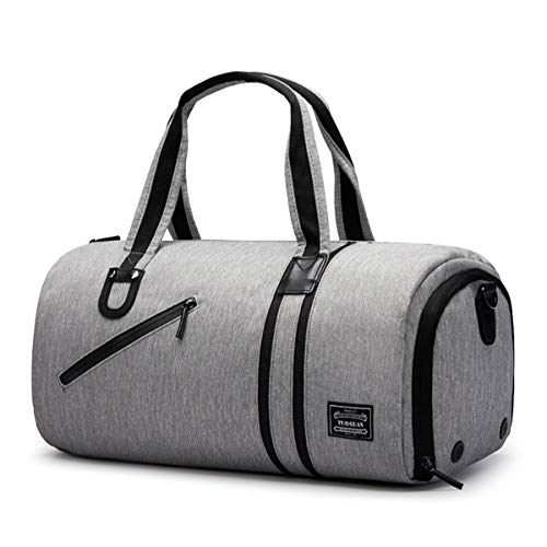 CHEREEKI Duffel Bag, Sports Gym Bag with Shoes Compartment & Wet Pocket for Women and Men
