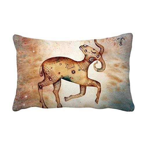 DIYthinker maart april Ram sterrenbeeld Zodiac gooi Lumbar kussen invoegen kussen Cover Home Sofa Decor Gift