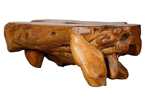 Windalf Grande table basse Soul au design naturel 133 cm - Table de salon rustique unique fabriquée à la main en bois