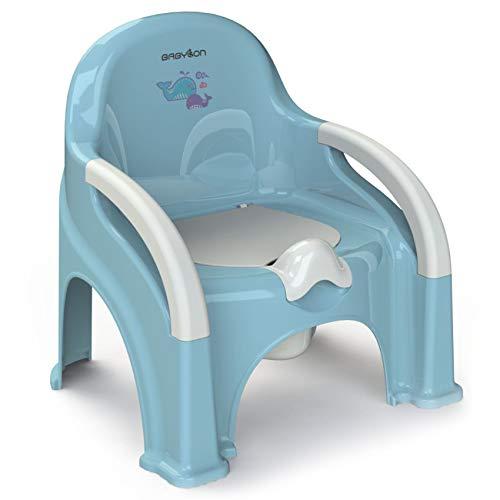 BABYLON Vasino per bambini con coperchio Premier anti scivolo Vasino per bambini wc, colore: blu