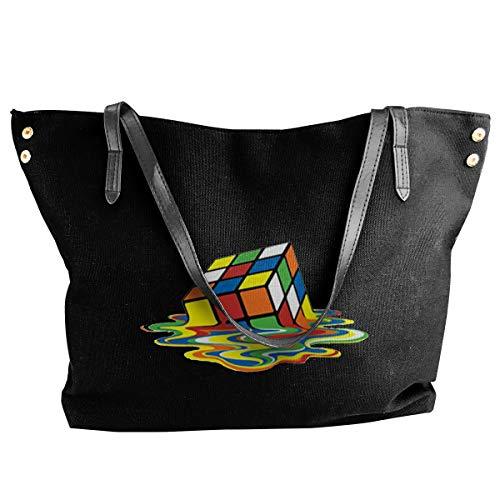 XY Shop Rubiks Cube Women's Tote Bags Canvas Shoulder Bag Hanbag