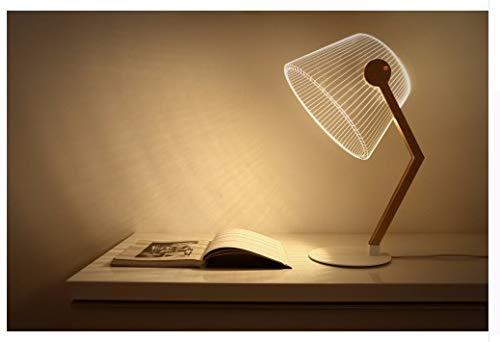 Xzfddn Lámpara De Mesa Led 3D Ilusión Óptica Luz De La Noche Transparente Acrílico Deco Inicio Bulbing Lámpara De Noche