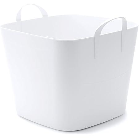 「スタックストー」 収納ボックス baquet (バケット) M 25L ホワイト (白)